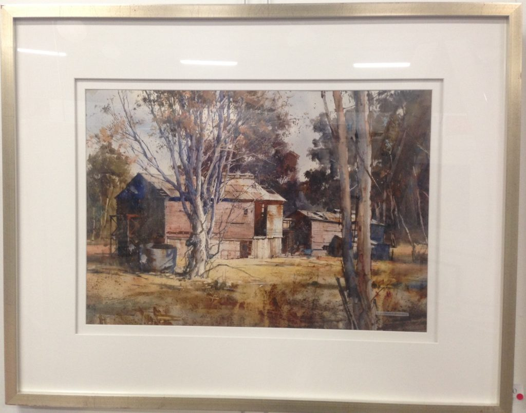 King Valley Remains - watercolour painting by Julian Bruere