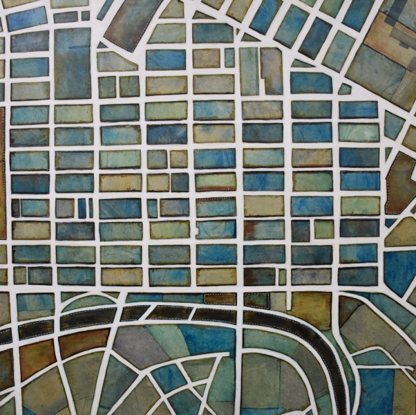 Melbourne City by Melissa Johns - winner of Local Emerging Artist sponsored by RBA Financial Group